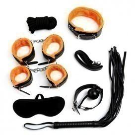 Kit Bondage 7 Pièces Noir/Orange