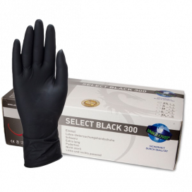 Gants Longs Unigloves Select black 300  x100