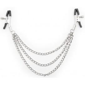 Pinces tetons avec 3 chaines