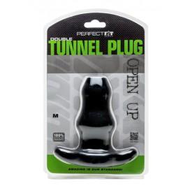 Perfect Fit Double Tunnel Plug Noir Medium