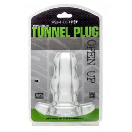 Perfect Fit Double Tunnel Plug Transparent Medium