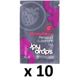 Dosettes Lubrifiant Arôme Fraise 5mL x10