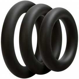 Optimale Lot de 3 cockrings Thick 10mm Noirs