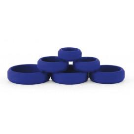 Pack de 6 cockrings Silicone Bleu